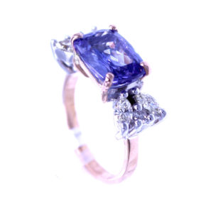 "Ring Tansanit & Brillant ""Bouquet"""