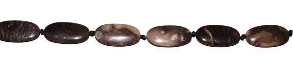 Versteinertes Holz, oval, flach, L40 B20 H9mm