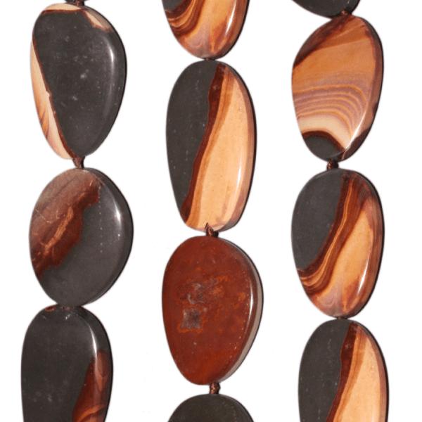 Wonderstone, div. flache Formen, Strang 40cm