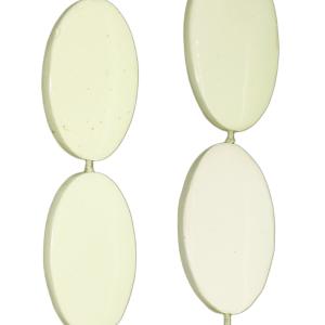 Zitronenchrysopras, oval, L46 B29mm