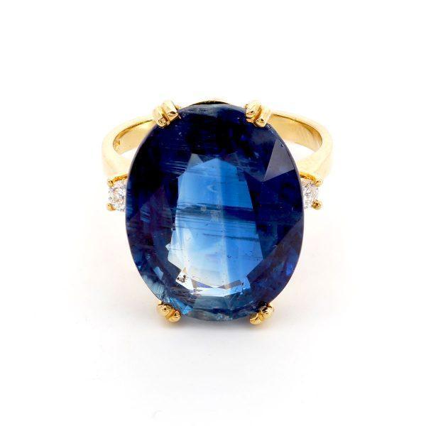 Kyanit Diamant Ring