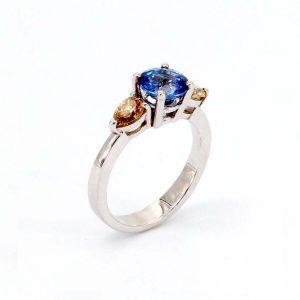 """Ring Saphir & Diamant – """"Champagner"""""""