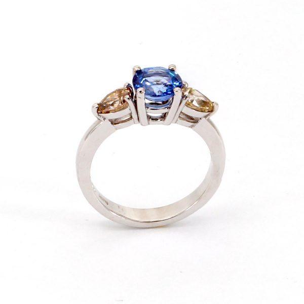 Saphir Diamant Ring