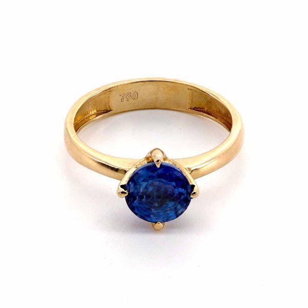 Saphir Solitär Ring