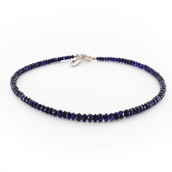 Blauer Saphir Halskette