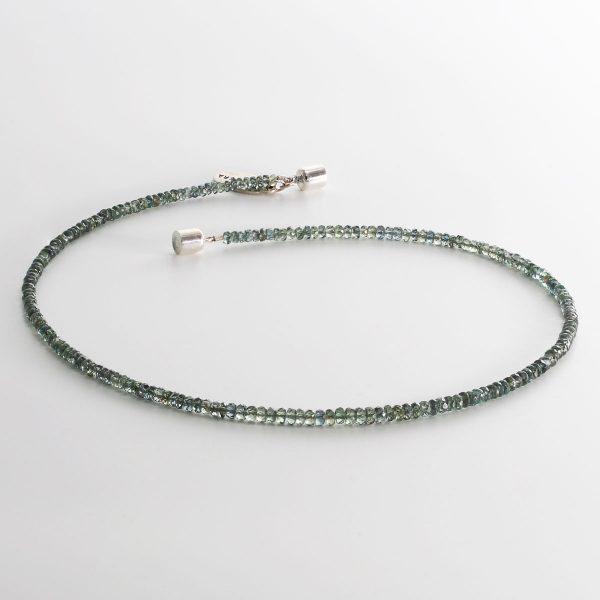 Grüner Saphir Halskette
