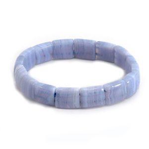 """Armband Blauer Streifenachat – """"Pastell"""""""