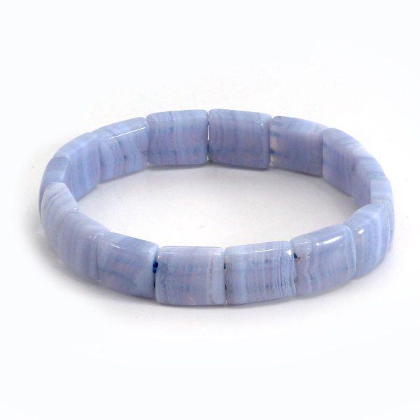 Blauer Streifenachat Armband