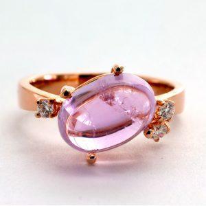 "Ring Kunzit & Diamant – ""Candy"""
