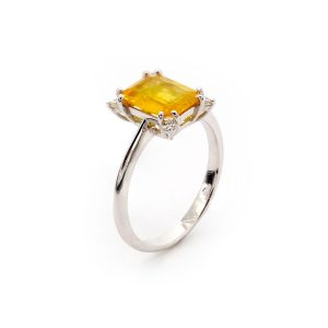 "Ring Gelber Saphir & Diamant – ""Precious"""