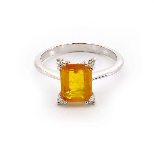 Gelber Saphir Ring