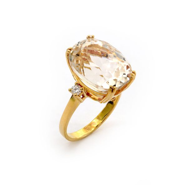 Morganit Diamant Ring