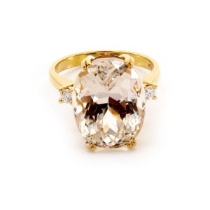 "Ring Morganit & Diamant – ""Precious"""