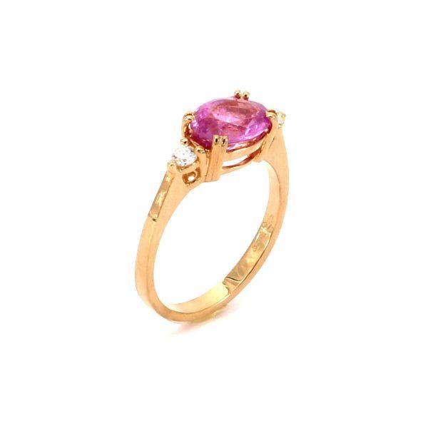 Pink Saphir Diamant Ring