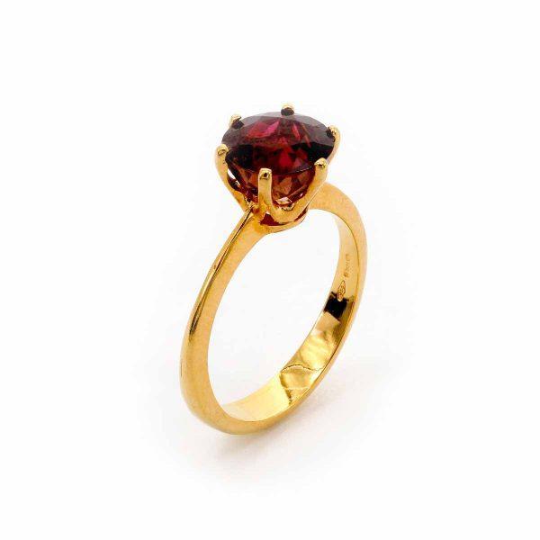 Rubellit Ring