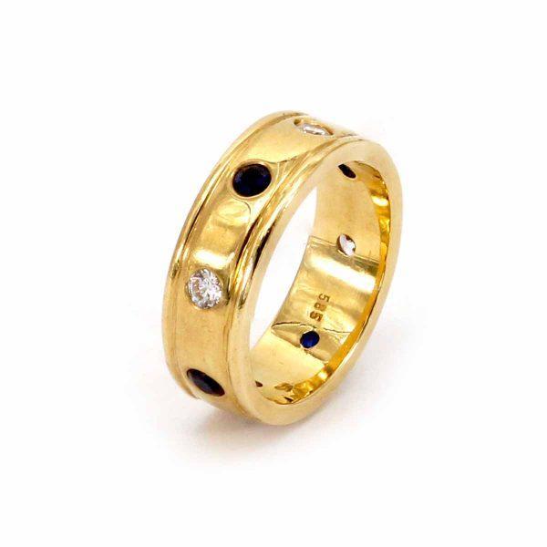 Saphir Diamant Herrenring