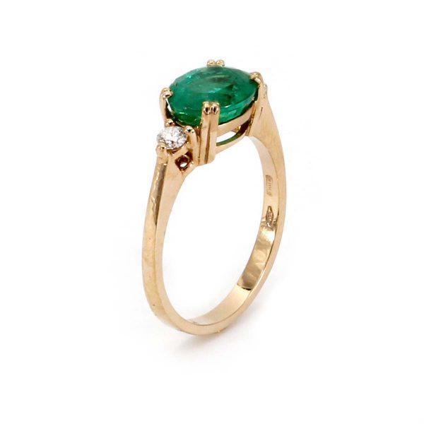 Ring Smaragd Diamant