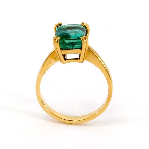 Smaragd Gelbgold Ring