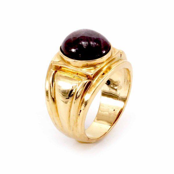 Sternrubin Gelbgold Ring