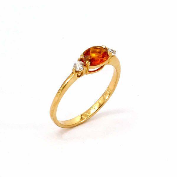 Topas Diamant Ring