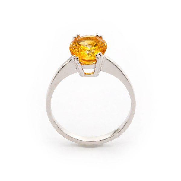 Zitrin Weißgold Ring