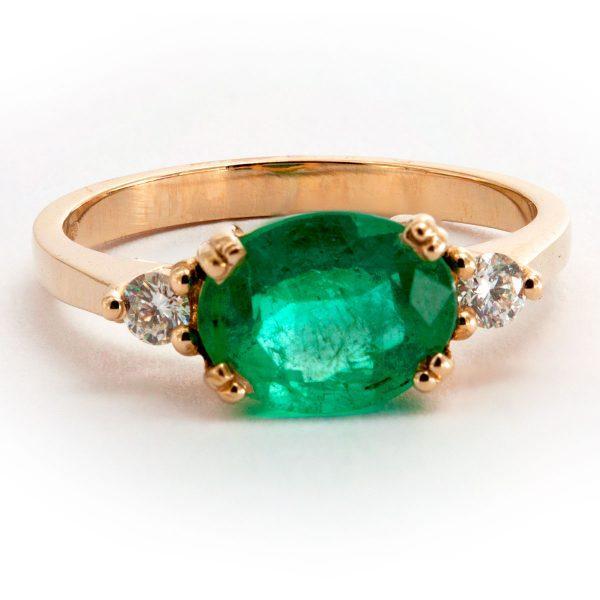 Smaragd Diamant Ring
