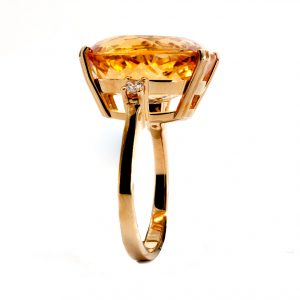 "Ring Zitrin & Diamant – ""Sunrise"""
