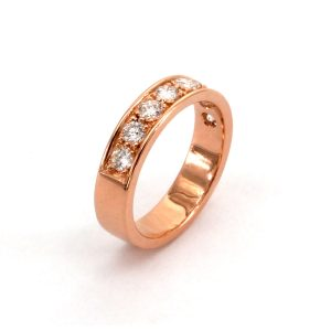 "Ring Diamant & Roségold – ""Half Eternity"""