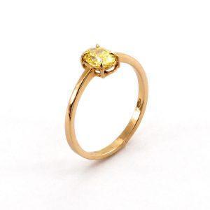 "Goldring mit Diamant – ""Yellow Diamond"""