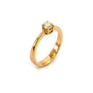 """Solitär Diamantring – """"Yellow Diamond"""""""