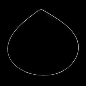 Silber Omega-Kette, rund